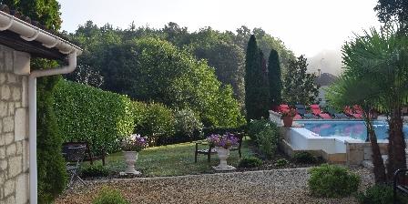 Domaine Lacoste La maison vue du jardin
