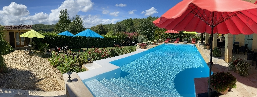 bed & breakfast Dordogne - Private terraces with panoramic view