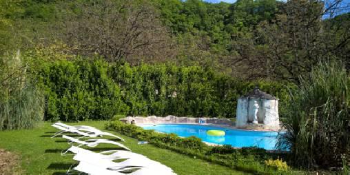 Chambre d'hote Lot - Coin piscine