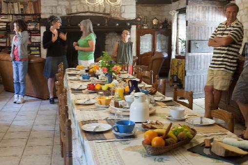 Chambre d'hote Lot - salle-à-manger:Petit-déjeuner