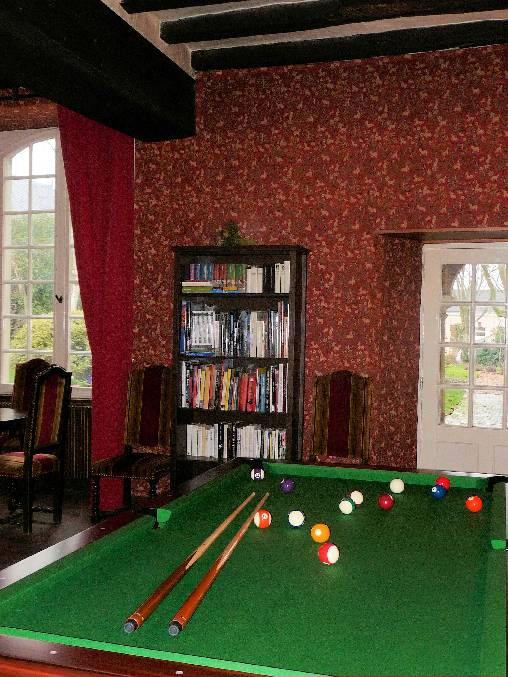 Chambre d'hote Mayenne - Le salon rouge