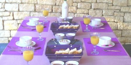 Le Clos Gaillardou Vue d'un petit déjeuner dans la véranda