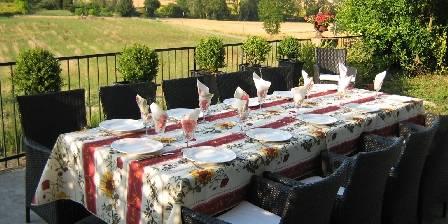 Château Coquelicot La table d'hôtes en terrasse