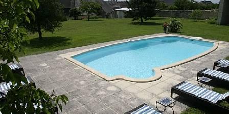 Le Clos de Ligré Le parc et sa piscine