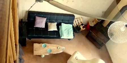 Gîte Traces en Terre Cocon repos sur la mezzanine