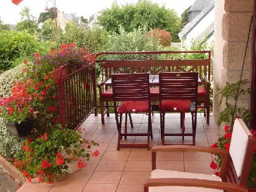 Chambre d'hote Morbihan - la terrasse