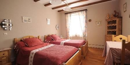 La Montagne Verte Chambre rose 2lits 90x200