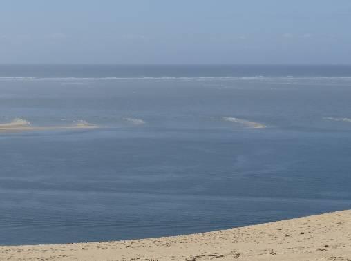 Vue du haut de la dune du Pyla