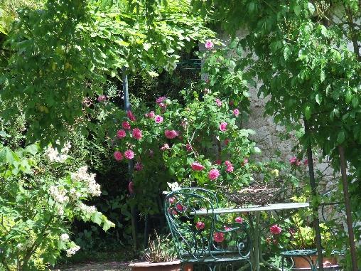 Chambre d'hote Loiret - terrasse devant la chambre