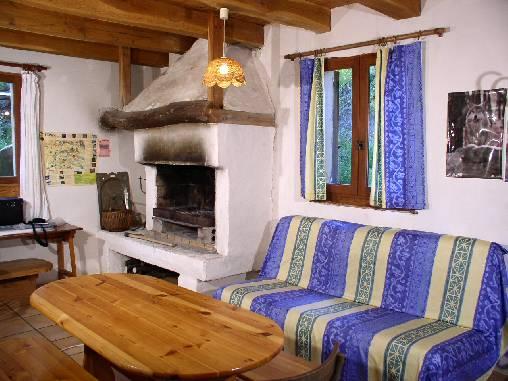 Chambre d'hote Lozère - séjour cheminée