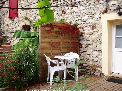 la terrasse du gîte du Levant