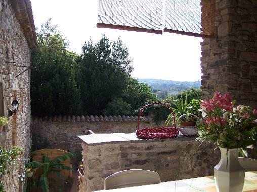 la terrasse du gîte du Couchant
