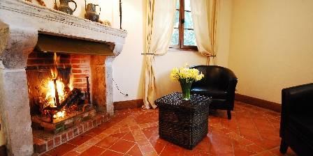 Chambre d'hotes La Ferme des Saules > Chambre Sekka avec cheminée