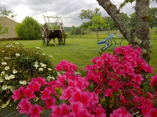 Chambre d'hote Haute-Vienne - jardin