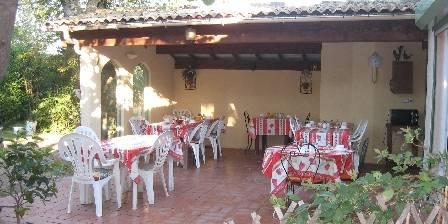 Le Mas des Cigalines Terrasse pour petits dejeuners