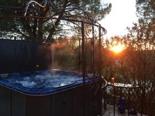 Chambre d'hote Gard - le spa en hiver