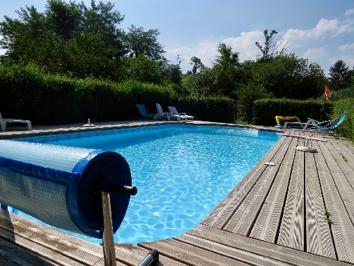 notre piscine chauffée