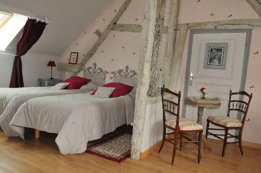 Chambre d'hote Eure-et-Loir - La chambre Coquelicot