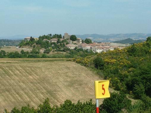 Chambre d'hote Aude - le village vue du golf