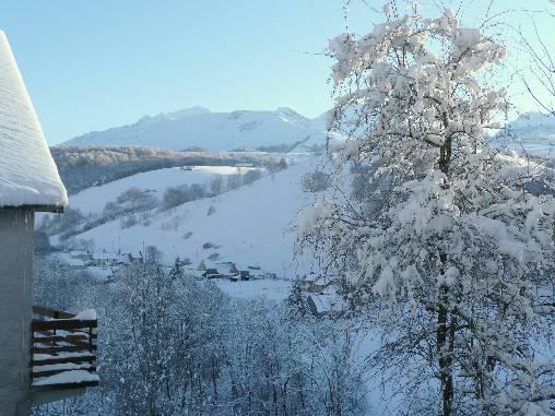 Vue de la vallée en hiver
