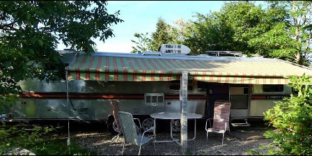 Belrepayre Airstream  Retro Trailer Park Orange 70s