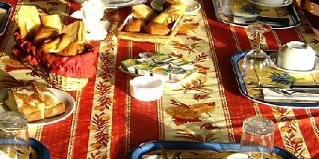 Le Mas Aurélia Petit déjeuner servi sur la terrasse
