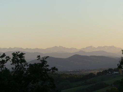 La vue sur les Pyrenees