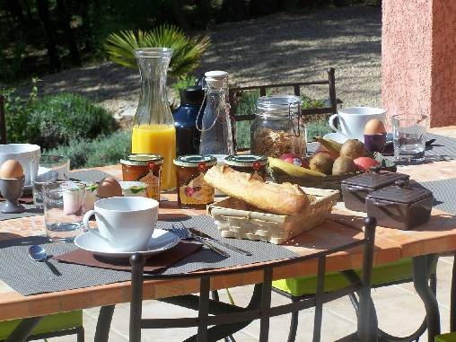 Chambre d'hote Var - Petits déjeuners gourmands