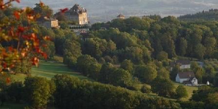 Les Maisons Fougère et La Bulle à Parfums Vue vers château Frontenay depuis nos hébergements