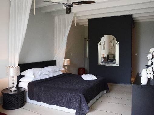 bed & breakfast Loir-et-Cher - Black & White bedroom
