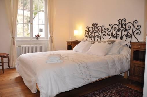 Chambre à coucher et vue sur le château