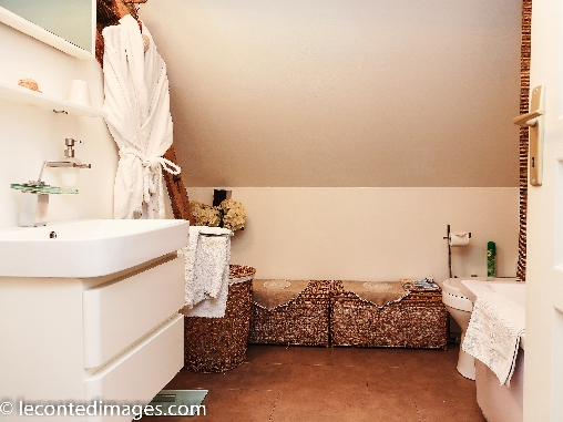 bed & breakfast Loir-et-Cher - Bathroom of the room romantic Volti