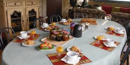 Chambre d'hotes La Martinade > Petits déjeuners sous la veranda