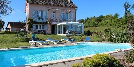 Location de vacances La Grande Boulessie > maison plein sud piscine chauffée