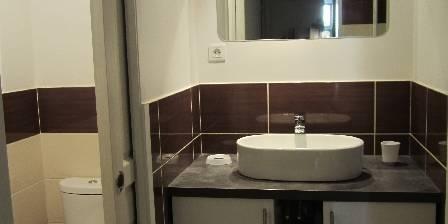 Le Cocon d'Emma La partie bains : toilettes et vasque