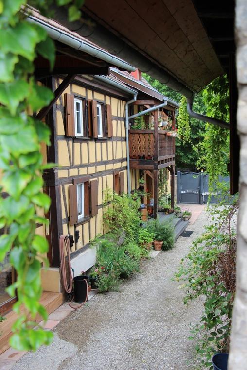 Chambre d'hote Bas-Rhin - vue sur la cour