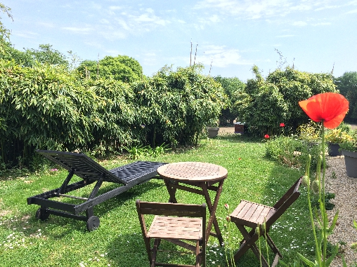 Chambre d'hote Morbihan - côté jardin boudoir