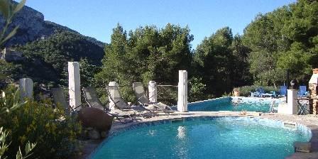 Villa Chante Coucou Vue des 2 piscines