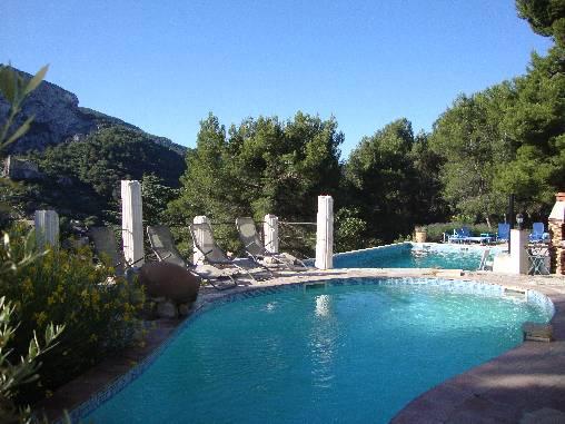 Vue des 2 piscines
