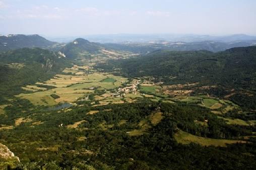 point de vue du sommet de Bugarach
