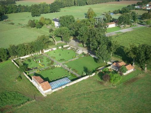 Domaine de l'Ecorce, Jardin Clos vu du ciel