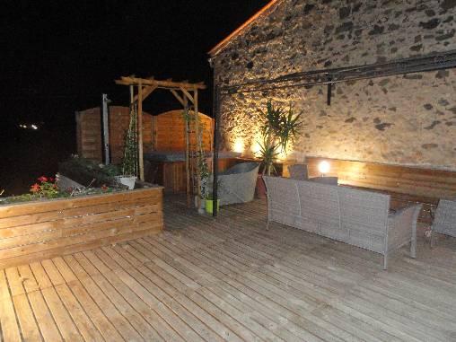 Chambre d'hote Pyrénées-Orientales - La terrasse sur le toit avec jacuzzi