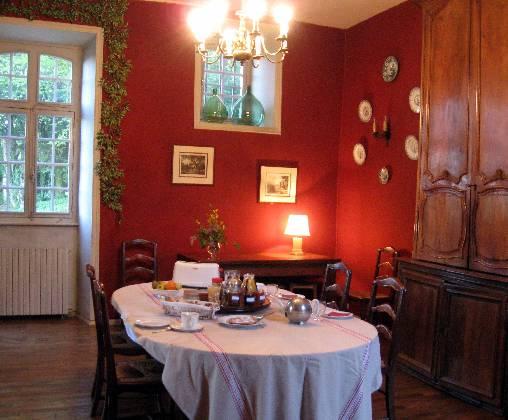 Chambre d'hote Corrèze - salle à manger