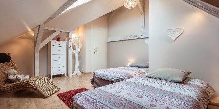La Rose Trémière Chambre deux lits 1p Rosea