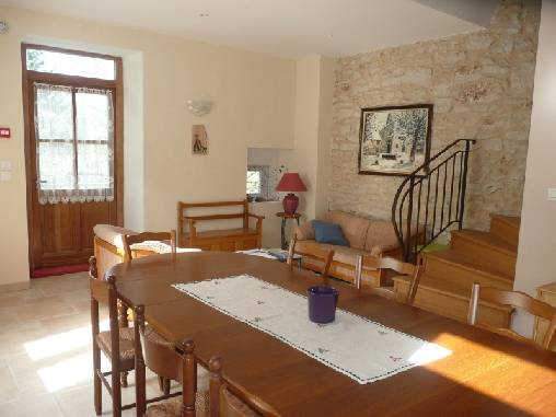 salle commune des Chmabres d'Hostun, chambres d'hôtes Vercors