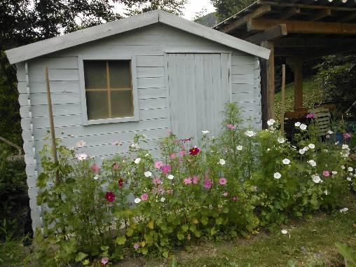 la cabane du jardin des Chambres d'Hostun, dans la Drôme