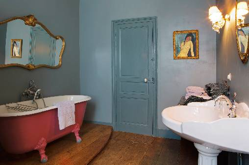 bed & breakfast Creuse - Private bathroom chambre du Jardin