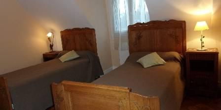 La Maison Bleue La chambre aux lits jumeaux de l'étage