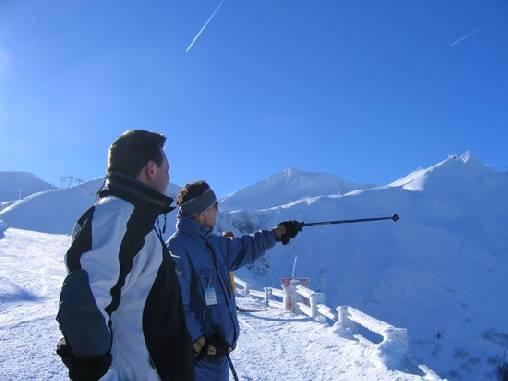 Skieur dans le Sancy
