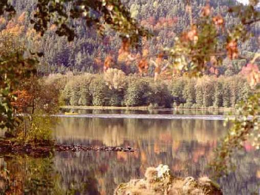 Le lac Chambon en automne